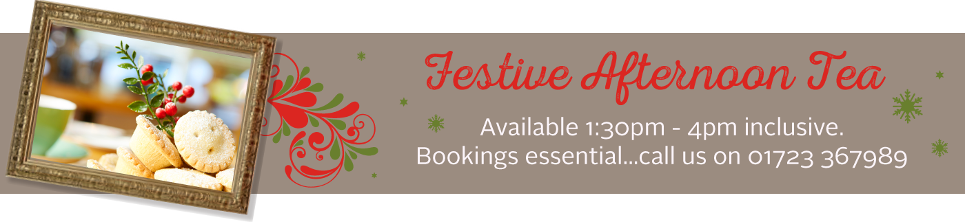 yew tree festive tea banner